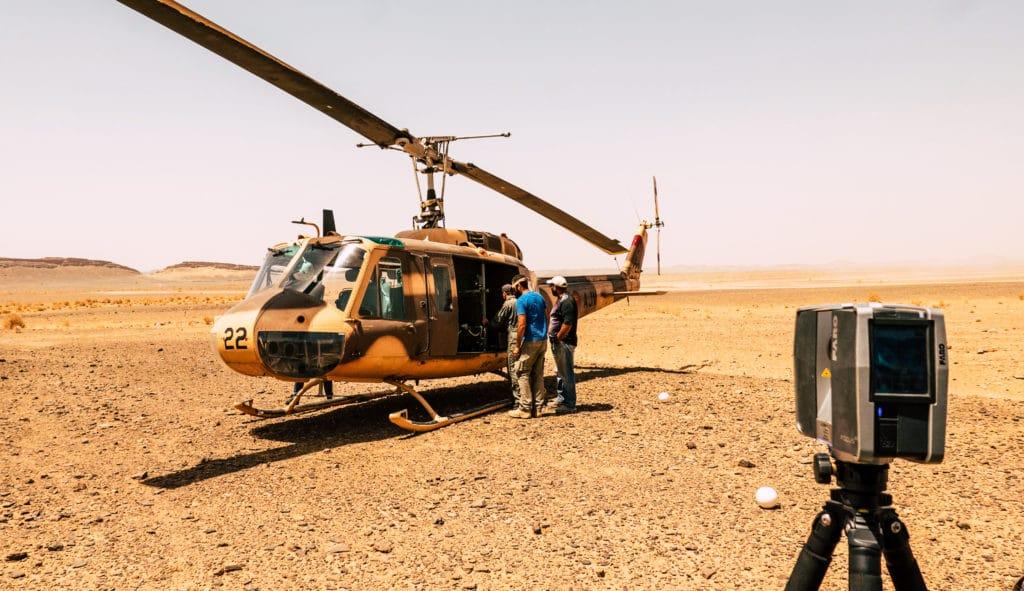 3D-Erfassung-Helikopter-CGI-Virtual-Reality-3D-Punktwolke-Filmset