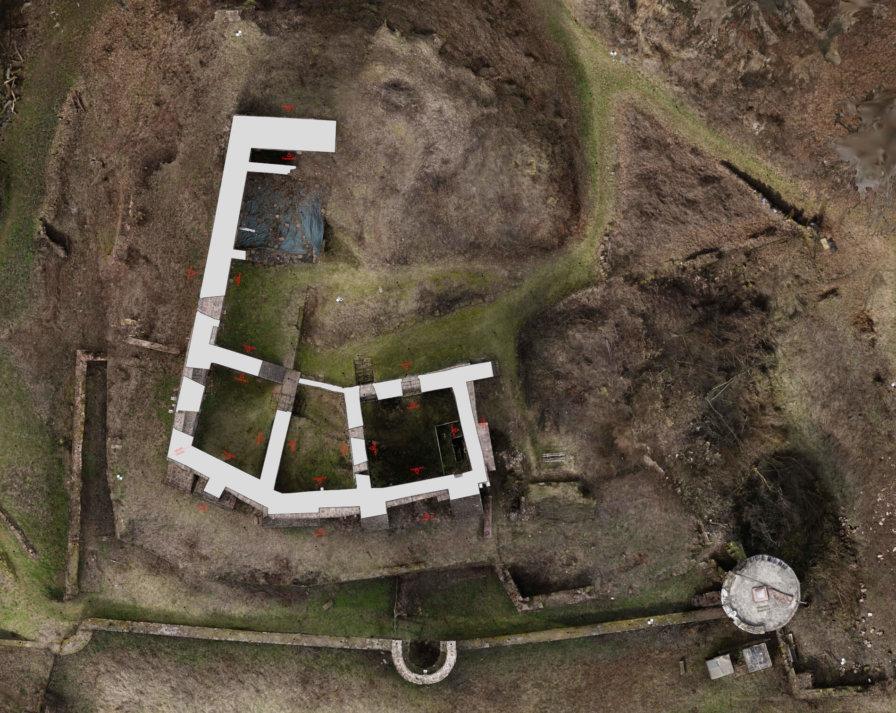Orthofoto-2D-Plan-Grundriss-Burg-Ergebnisse-Orthofoto-Grundriss-3D-Denkmal-Vermessung-per-Drohne-Laserscanning-Denkmalschutz-Burg-Freienstein