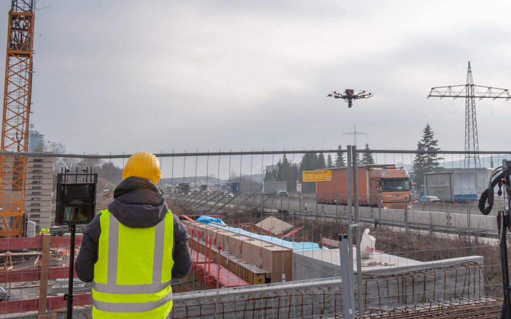 Logxon-Laserscan-Drohne-Autobahn-A6-UAV-Vermessung-UAV-Bauwesen-Drohne-im-Bauwesen-Baugewerbe