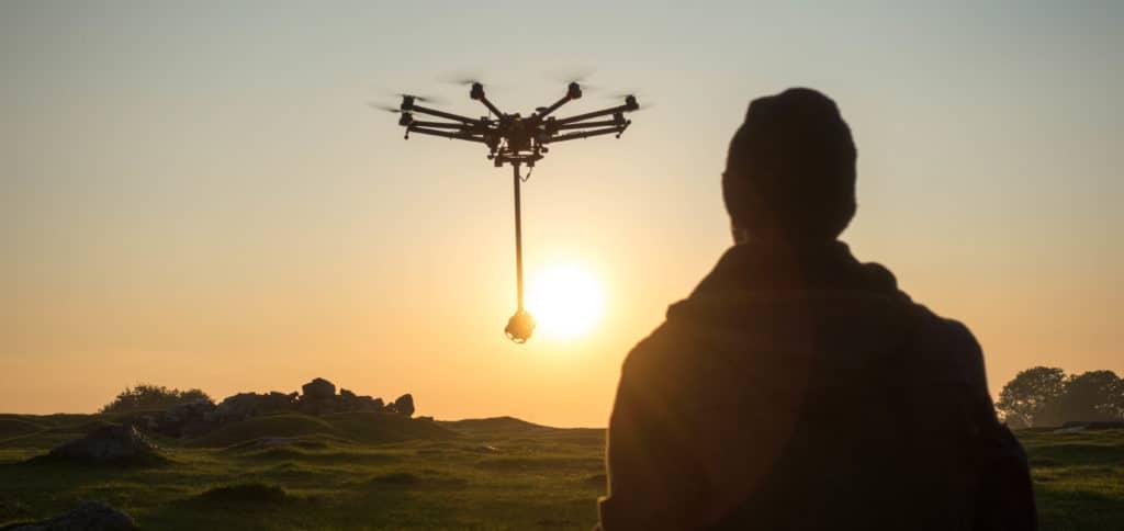 VR Drohne 360° Drohne mit 360° GoPro Rig
