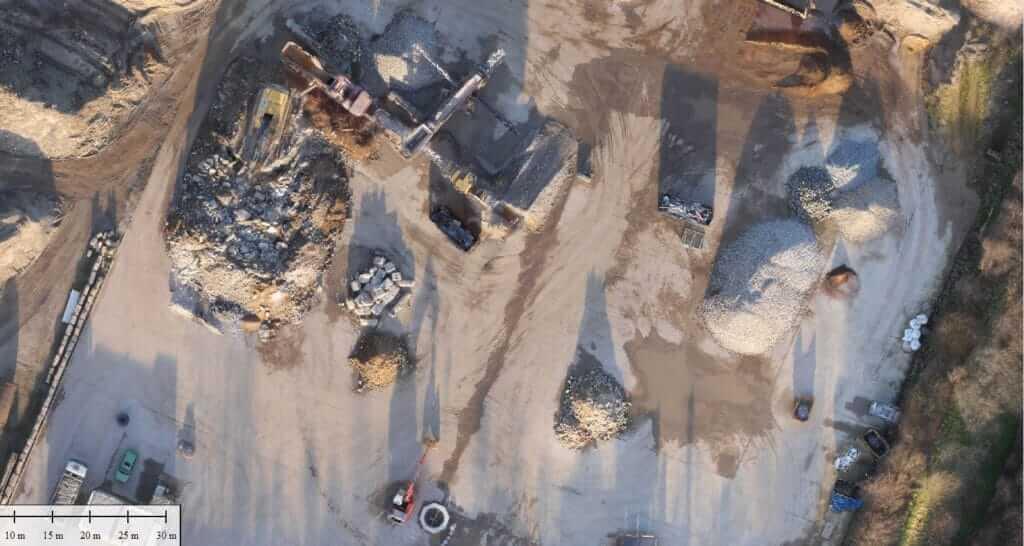 Produkt der 3D Vermessung mit Drohne im Detail: Terrain Scan mit Drohne