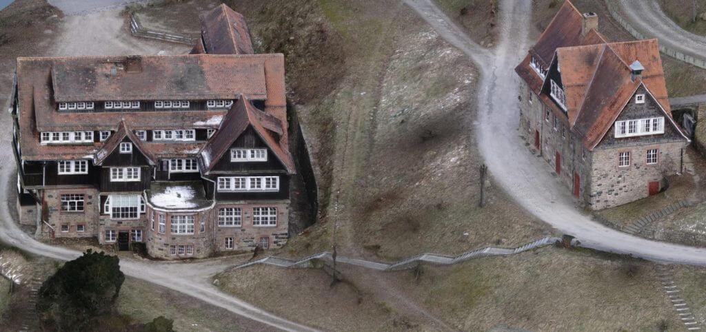 3D Gebäudemodelle kostengünstig erstellen: Einsatz Vermessungsdrohne Odenwaldschule
