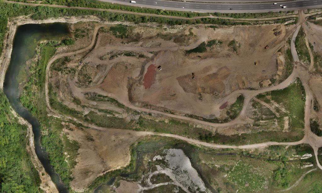 Georeferenziertes-Orthophotoo-Drohne-Vermessung-mit-Drohne-Kartierung-Steinbruch-MZ-UAV-Vermessung