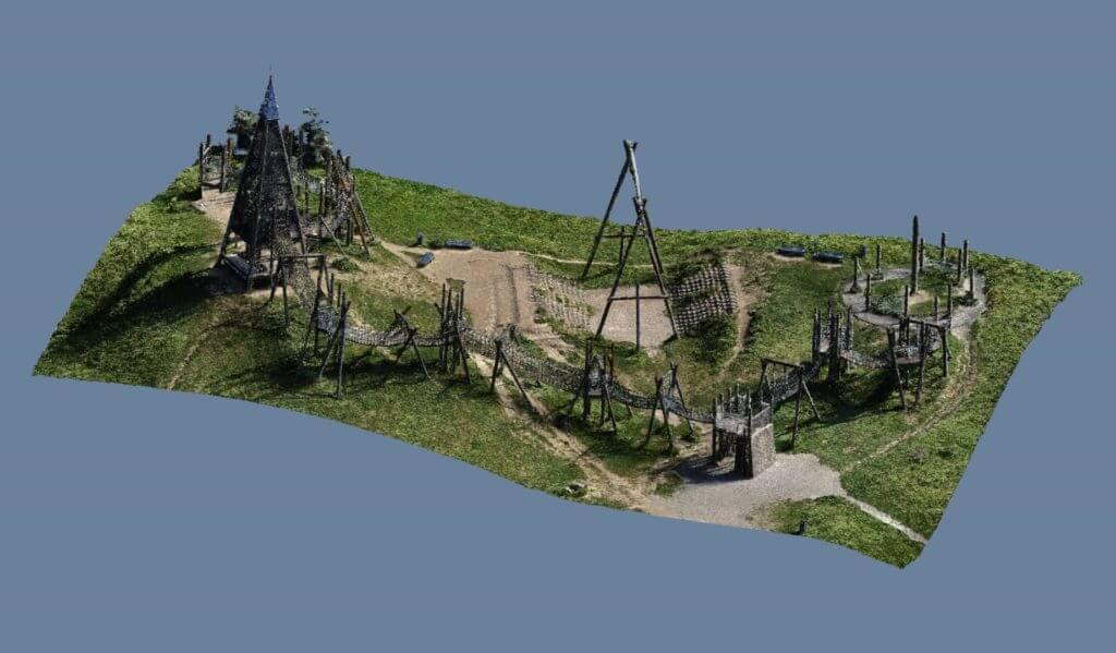 Photogrammetrische-Vermessung-3D-Render-Rendering-Render-Burg-Spielpark-3D-Scanning