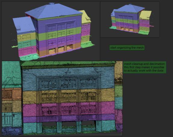 Sortierung-Organisation-der-Scans-Mesh-Bearbeitung-Mesh-Decimation-VR-Scan-vr-scans-3d-scans-3D-Modeling-für-Virtual-Reality-VR-VFX-und-Gaming