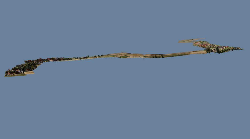 3D-Punktwolke-Ergebnis-Auskundung-per-Drohne-durch-Korridorbefliegung-im-Trassenbau-Fernerkundung-Multicopter-3D-Vermessung