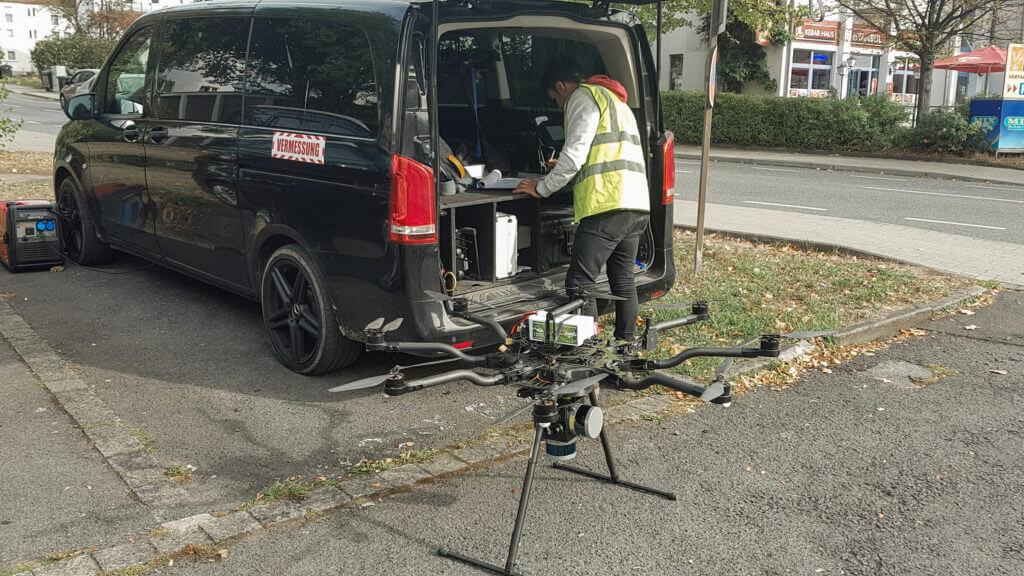 UAV Laserscanning Vermessung in Nordhessen zur 3D Bestandsmodellierung