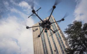 GeoSLAM-ZEB-HORIZON-Scan-Service-Logxon-Porter-Drohne-Heavylifter-vor-hda-Hochschule-Darmstadt-zur-Bestandsaufnahme-Vermessung
