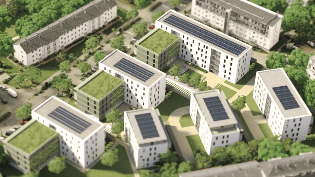 3D-Rendering-2D-Rendering-3D-Architektur-Visualisierung-Außenrenderings-Darmstadt-Postsiedlung-Moltketrasse