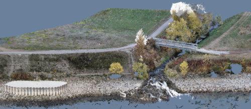 Texutrierte-3D-Punktwolke-Winkelbachmuendung-Rhein-Gernsheim-Hessen