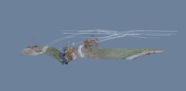 Bestandsplanerstellerung-Punktwolke-mit-Bruchkanten-Hoehenprunkten-Hoehenaufanahme-CAD-Daten-Winkelbachmuendung-Rhein-Hessen