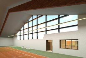 Indoor-Tennisplatz-Tennishalle-Rendering-texturiertes-3D-Modell-nach-Modellierung-der-3D-Punktwolke-3D-Modellierung
