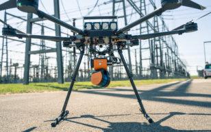 LOGXON-Porter-Drohne-Umspannwerk-GeoSLAM-ZEB-HORIZON-Laserscanner-SLAM-Scanner-LiDAR-Scanning-Drohne