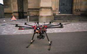 Photogrammetrie-Drohne-Vermessung-LOGXON-Gebaeudebaufnahme-Kirche-3D-Denkmalvermessung-mittels-Drohne