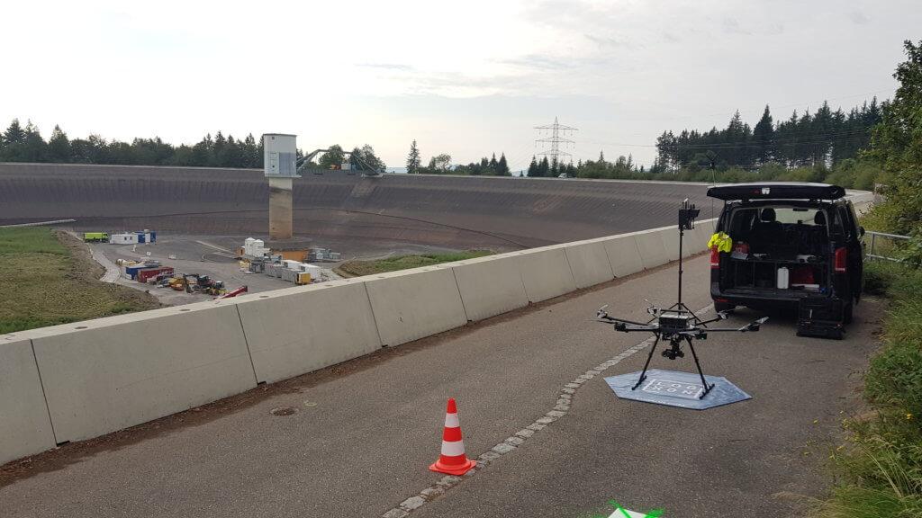 Flächenvermessung-per-Drohne-Porter-Photogrammetrie-3DScan-Baustelle-Hexacopter