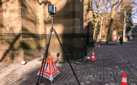 FARO-Focus-Laserscanner-LiDAR-Vermessung-HMQ-AG-3D-Denkmalvermessung-mittels-Drohne-LOGXON-Gebaeudebaufnahme-Kirche-Basel-Schweiz