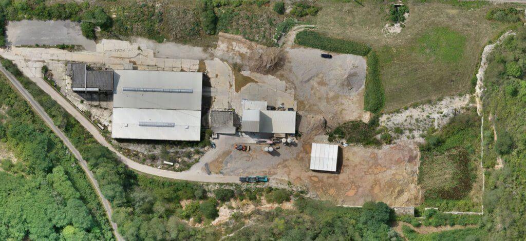 Digitale 3D Bestandsaufnahme von einem Industriegebiet aus der Luft per Drohne