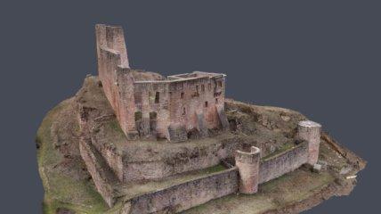 Drohnenvermessung-Burgruine-Freienstein-3D-Burg-Vermessung-CAD-Modellierung-Planerstellung-32