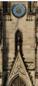Uhr-Kirche-Fassaden-Ansicht-Orthofoto-Fassadenansicht-Kirche-3D-Vermessung-Kirchen-Drohne-Photogrammetrie-Laserscanning-Denkmalvermessung-Kirchen