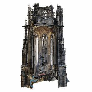 3D-Vermessung-Kirche-Drohne-Photogrammetrie-Laserscanning-Denkmalvermessung-Screen-Rendering-Schnitt-Elisabethenkirche-Klockenturm-Oktagon-Fasssade-Ansicht-Fassadenansicht-Kirche