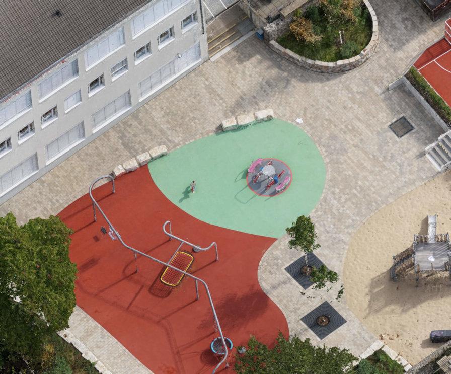 Texturierte-Punktwolke-Photogrammetrie-Drohne-Ergebnisse-Drohnen-Einsatz-3D-Aufnahmen-zur-Vermessung-Schule-Rodgau