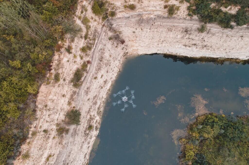 Fotogrammetrische Vermessung per Drohne im Steinbruch, DGM-Erstellung und Differenzvergleiche