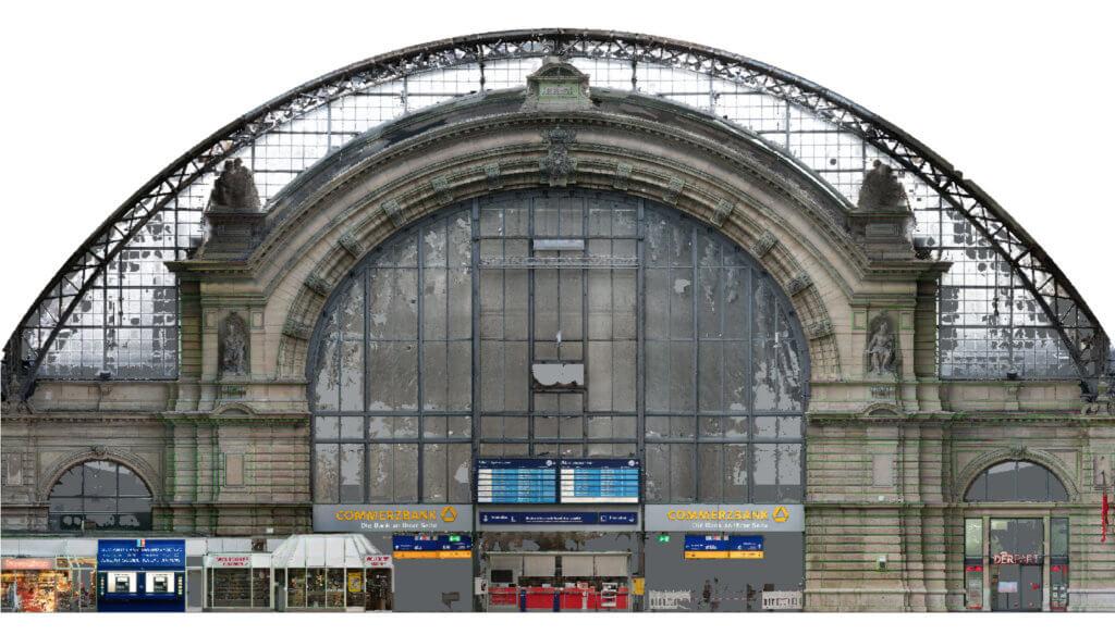 Orthofoto-HBF-FFM-3D-Fassadenaufnahme-per-Drohne-zur-Vermessung-CAD-Modellierung-Deutsche-Bahn-Hauptbahnhof-Frankfurt