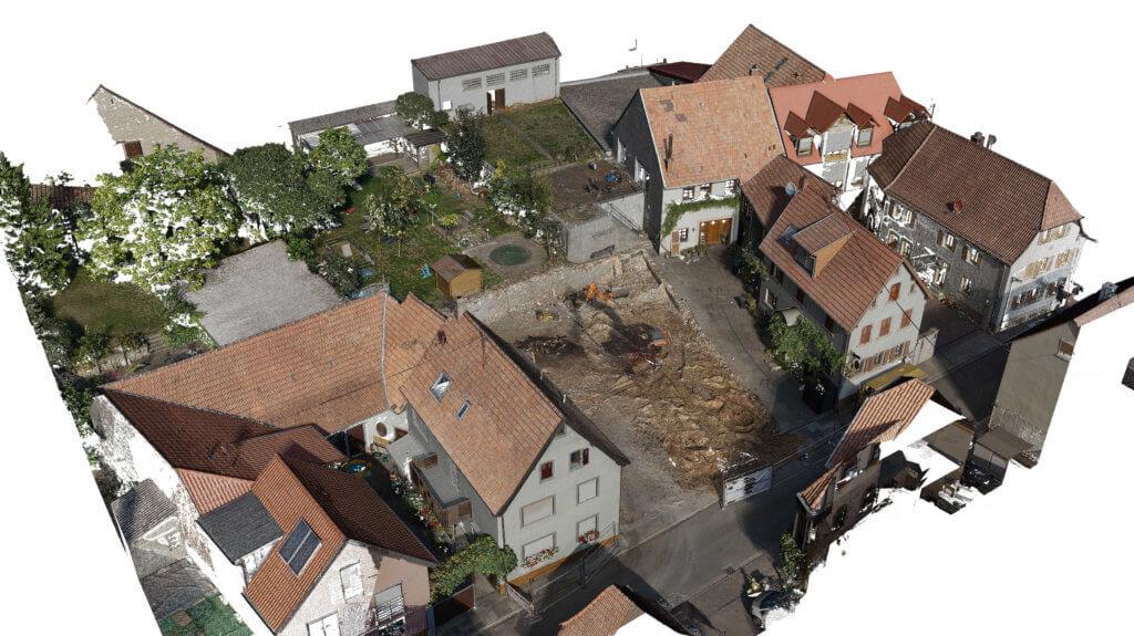 Screenshot-Punktwolke-Modell-Kombinierte-3D-Gebaeudeaufnahme-Drohne-Laserscanner-Weingut-Pfalz