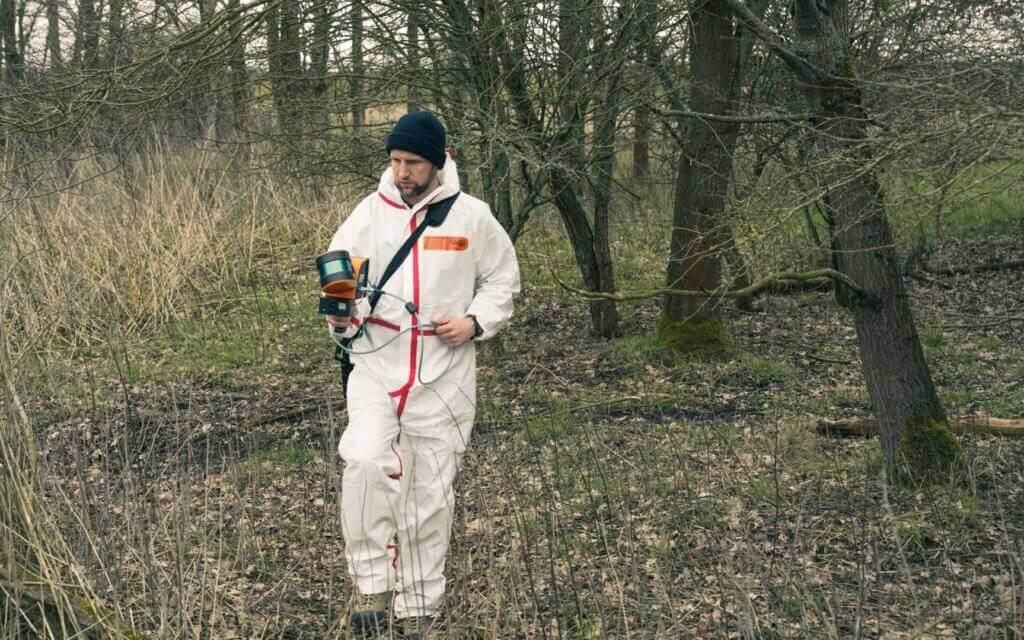 GeoSLAM-Mobile-Mapping-Scan-Opterator-Thomas-Hechler-LOGXON-Alta-8-GeoSLAM-ZEB-HORIZON-UAV-LiDAR-Vermessung-zur-Erfassung-der-Vegetationsstruktur-von-Waldflächen-Elbe-Elbvorland-Brandenburg