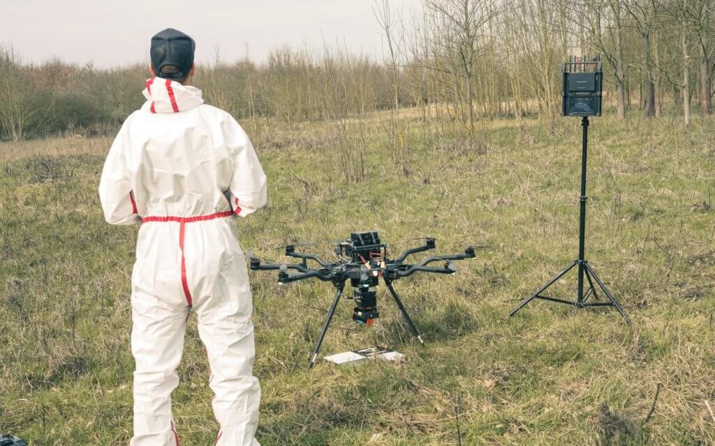 UAV LiDAR Vermessung zur Erfassung der Vegetationsstruktur von Waldflächen an der Elbe in Brandenburg