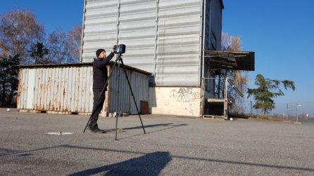 FARO-Laserscanner-Terrestrisches-Laserscanning-kombiniert-mit-photogrammetrischen-Drohnenaufnahmen-simultane-Auswertung-Scans-Messbilder