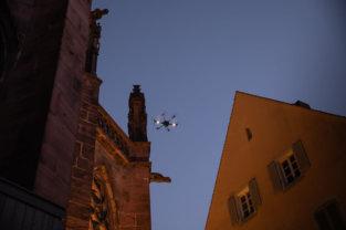 LOGXON-Freiburg-Muenster-Vermessung-Laserscan-Porter-Punktwolke-Häuser-Schlucht-Drohne-Fluggerät-3D-Kirchen-Vermessung-per-Drohne